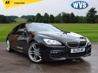USED 2013 13 BMW 6 SERIES 3.0 640D M SPORT GRAN COUPE 4d AUTO 309 BHP This is amazing value for money, new this cars list price was over £69000, but available for sale now at just £21999. It is a 2013 BMW 640D M Sport 4dr gran coupe in black metallic with a black full leather interior. Previously supplied and serviced by us and with 2 keys.