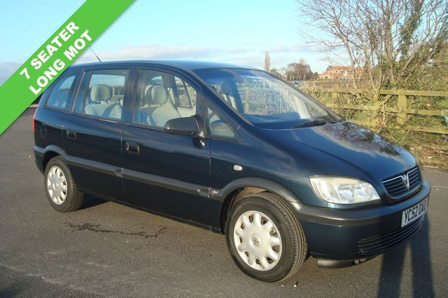 2002 52 VAUXHALL ZAFIRA 1.6 CLUB 16V 5d 99 BHP 7 SEATER LONG TEST PX TO CLEAR