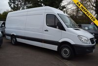 USED 2013 63 MERCEDES-BENZ SPRINTER 2.1 313 CDI LWB 1d 129 BHP Just £9999 + vat will buy you this 2013 Mercedes Sprinter 313 2.0cdi LONG WHEEL BASE HIGH ROOF van in white with 82000 miles.