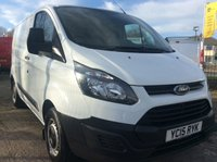 USED 2015 15 FORD TRANSIT CUSTOM SWB 2.2 270 LR P/V 99 BHP 1 OWNER NEW MOT FREE AA WARRANTY WITH RECOVERY AND ASSIST NEW MOT ELECTRIC WINDOWS 6 SPEED REAR PARKING SENSORS BLUETOOTH MULTI FUNCTIONAL STEERING WHEEL