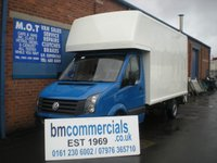 USED 2012 62 VOLKSWAGEN CRAFTER 2.0 CR35 TDI 1d 107 BHP LUTON BOX VAN WITH TAIL LIFT
