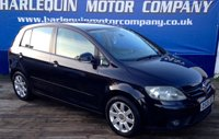 USED 2006 06 VOLKSWAGEN GOLF PLUS 2.0 GT TDI 5d 138 BHP 2006 V/W GOLF PLUS GT TURBO DIESEL 5 DOOR MANUAL IN METALLIC BLACK WITH SPORTS BLACK TRIM FRONT AND REAR PARKING SENSORS ALLOYS SERVICE HISTORY SUPERB VALUE