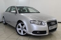 USED 2007 07 AUDI A4 2.0 TDI S LINE TDV 4DR 140 BHP SERVICE HISTORY + MULTI FUNCTION WHEEL + CLIMATE CONTROL + RADIO/CD + 18 INCH ALLOY WHEELS
