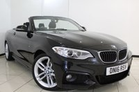 USED 2016 16 BMW 2 SERIES 2.0 220D M SPORT 2DR AUTOMATIC 188 BHP FULL BMW SERVICE HISTORY + SAT NAVIGATION + BLUETOOTH + CRUISE CONTROL + MULTI FUNCTION WHEEL + 18 INCH ALLOY WHEELS