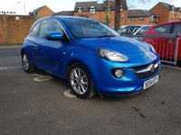 USED 2015 64 VAUXHALL ADAM 1.2 JAM 3d 69 BHP EXCELLENT FUEL ECONOMY!..LOW CO2 EMISSIONS..LOW ROAD TAX...FULL HISTORY...ONLY 7593 MILES ONLY!..WITH BLUETOOTH, CRUISE CONTROL, MEDIA AND TRACTION CONTROL!
