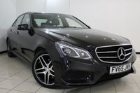 USED 2015 65 MERCEDES-BENZ E CLASS 2.1 E220 BLUETEC AMG NIGHT EDITION 4DR AUTOMATIC 174 BHP FULL MERCEDES SERVICE HISTORY + LEATHER SEATS + SAT NAVIGATION + PARKING SENSOR + CRUISE CONTROL + BLUETOOTH + CLIMATE CONTROL + MULTI FUNCTION WHEEL + 18 INCH ALLOY WHEELS