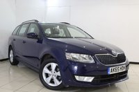 USED 2015 65 SKODA OCTAVIA 2.0 SE L TDI 5DR 148 BHP SKODA SERVICE HISTORY + HALF LEATHER SEATS + SAT NAVIGATION + PARKING SENSOR + BLUETOOTH + MULTI FUNCTION WHEEL + 17 INCH ALLOY WHEELS