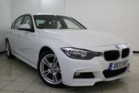 USED 2013 13 BMW 3 SERIES 2.0 320D M SPORT 4DR AUTOMATIC 181 BHP BMW SERVICE HISTORY + LEATHER SEATS + CLIMATE CONTROL + BLUETOOTH + CRUISE CONTROL + PARKING SENSORS + 18 INCH ALLOY WHEELS