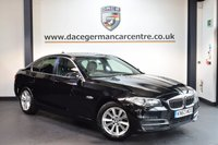 USED 2013 63 BMW 5 SERIES 2.0 520D SE 4DR 181 BHP + FULL BLACK LEATHER INTERIOR + FULL SERVICE HISTORY + 1 OWNER FROM NEW + SATELLITE NAVIGATION + HEATED SPORT SEATS + BLUETOOTH + DAB RADIO + PARKING SENSORS + 17 INCH ALLOY WHEELS +