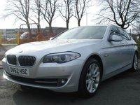 USED 2012 62 BMW 5 SERIES 2.0 520D SE 4d AUTO 181BHP 2KEYS+FSH+SATNAV+LEATHER+MEDIA