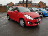 USED 2014 64 SUZUKI SWIFT 1.2 SZ2 3d 94 BHP EXCELLENT FUEL ECONOMY!!..LOW CO2 EMISSIONS..£30 ROAD TAX...FULL HISTORY..ONLY 9520 MILES FROM NEW!!..WITH AUXILLIARY INPUT AND USB!!