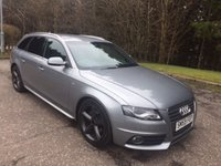 USED 2010 59 AUDI A4 AVANT 2.0 AVANT TDI S LINE 5dr 141 BHP 6 MONTHS PARTS+ LABOUR WARRANTY+AA COVER