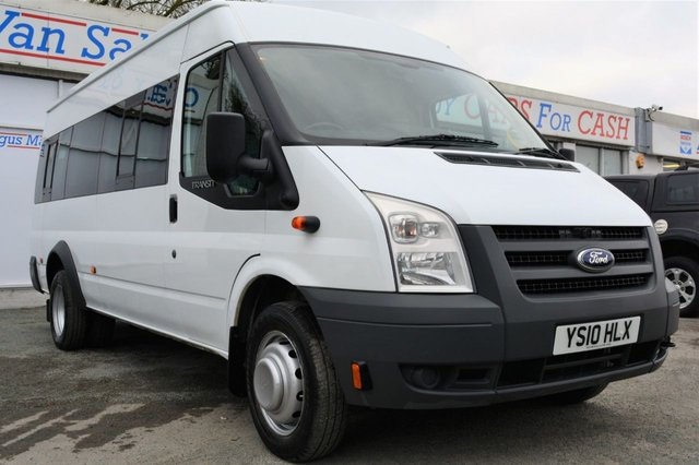 2010 10 FORD TRANSIT 2.4 430 SHR BUS 17 Seater Minibus
