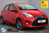 USED 2015 15 TOYOTA YARIS 1.3 VVT-I ICON 5d 99 BHP REAR CAM+FSH+1 OWNER+AIR CON