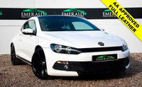 USED 2008 58 VOLKSWAGEN SCIROCCO 2.0 GT 3d 200 BHP £0 DEPOSIT FINANCE AVAILABLE, FULL BLACK LEATHER UPHOLSTERY, CD PLAYER, HEATED SEATS & WING MIRRORS, CLIMATE CONTROL, BLUETOOTH