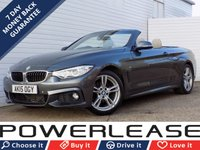 USED 2015 15 BMW 4 SERIES 2.0 420I M SPORT 2d 181 BHP FSH SAT NAV LEATHER STUNNING