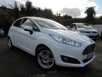 USED 2014 14 FORD FIESTA 1.6 ZETEC 5d AUTO 104 BHP ***WHITE LOW MILES AUTO FSH***