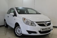 USED 2009 09 VAUXHALL CORSA 1.2 LIFE CDTI 3DR 73 BHP SERVICE HISTORY + AIR CONDITIONING + RADIO/CD + ELECTRIC WINDOWS + ELECTRIC MIRRORS