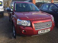 USED 2010 59 LAND ROVER FREELANDER 2.2 TD4 GS 5 DOOR AUTOMATIC 159 BHP IN METALLIC RED WITH BLACK CLOTH INTERIOR. APPROVED CARS ARE PLEASED TO OFFER THIS  LAND ROVER FREELANDER 2.2 TD4 GS 5 DOOR AUTOMATIC 159 BHP IN METALLIC RED WITH BLACK CLOTH INTERIOR,The car comes with Central locking, ABS, Alarm, 2 Keys +, Alloy wheels, CD player, Bluetooth, Climate control, Cruise control, Metallic paint, Electric windows, Power steering, Parking Sensors (rear) and a full service history with 5 service stamps in the service book