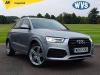USED 2015 65 AUDI Q3 2.0 TDI QUATTRO S LINE PLUS 5d AUTO 148 BHP A November 2015 Audi Q3 2.0tdi Quattro S Line  Plus auto in metallic silver with AUDI DRIVE SELECT, HI BEAM ASSIST AND FINE NAPPA BLACK LEATHER. 1 owner with Audi service history and 2 keys.