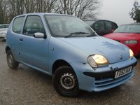 USED 2003 52 FIAT SEICENTO 1.1 S 3d 54 BHP 4 OWNER+CHEAP TO RUN + INSURE