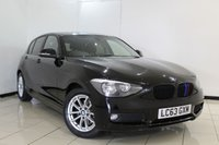 USED 2013 63 BMW 1 SERIES 1.6 116D EFFICIENTDYNAMICS 5DR 114 BHP SAT NAVIGATION + HEATED SEATS + BLUETOOTH + CRUISE CONTROL + MULTI FUNCTION WHEEL + 16 INCH ALLOY WHEELS