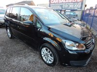 USED 2014 63 VOLKSWAGEN TOURAN 1.6 SE TDI BLUEMOTION TECHNOLOGY DSG 5d AUTO 106 BHP 7 SEATER, AIR CONDITIONING, GREAT ECONOMY, FRONT AND REAR PARKING SESNORS, HEATED SEATS