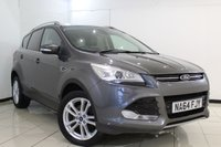 USED 2014 64 FORD KUGA 2.0 TITANIUM X TDCI 5DR 177 BHP HEATED LEATHER SEATS + BLUETOOTH + PANORAMIC ROOF + CRUISE CONTROL + CLIMATE CONTROL + MULTI FUNCTION WHEEL + AUXILIARY PORT + 18 INCH ALLOY WHEELS