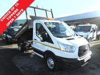 USED 2016 66 FORD TRANSIT 2.2 350 TIPPER TWIN WHEEL LOW MILES 125 BHP CHOICE IN STOCK  LOW 17000 MILES TWIN REAR WHEELS