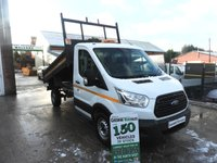 2015 FORD TRANSIT 2.2 350 TIPPER 125 BHP CHOICE IN STOCK  £12995.00