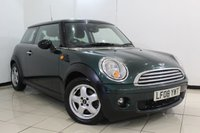 USED 2008 08 MINI HATCH COOPER 1.6 COOPER 3DR 118 BHP AIR CONDITIONING + RADIO/CD + ELECTRIC WINDOWS + ELECTRIC MIRRORS + ALLOY WHEELS