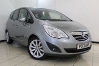USED 2013 13 VAUXHALL MERIVA 1.4 SE 5DR 118 BHP HALF LEATHER SEATS + CRUISE CONTROL + PANORAMIC ROOF + PARKING SENSOR + MULTI FUNCTION WHEEL + CLIMATE CONTROL + 17 INCH ALLOY WHEELS