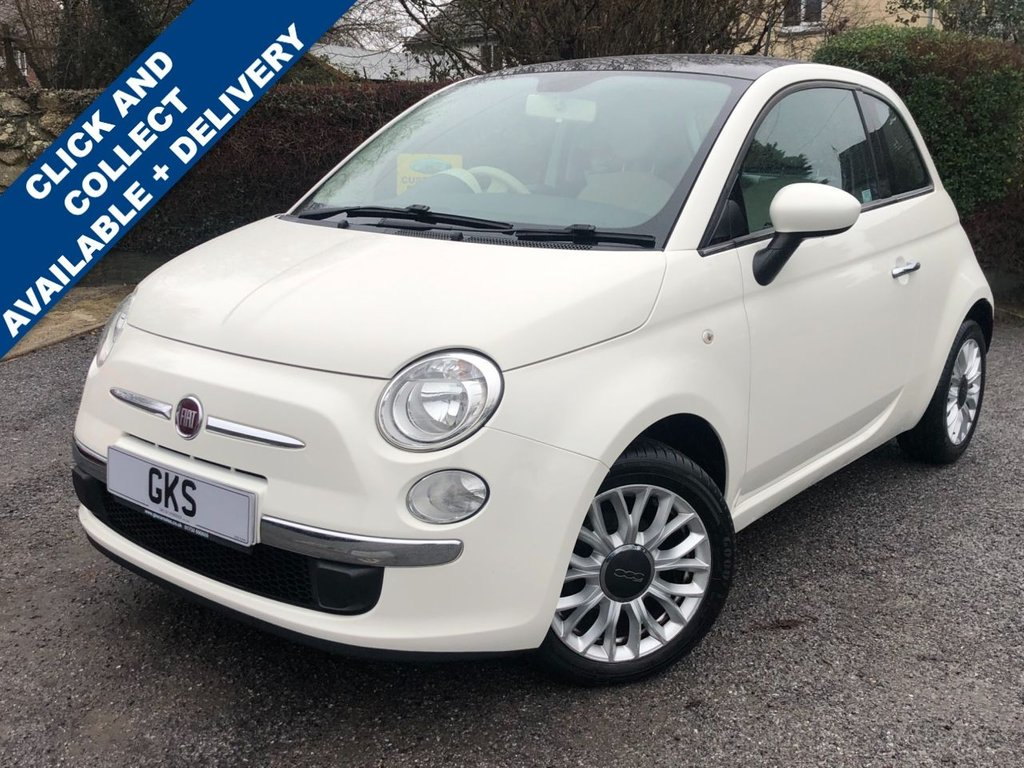 USED 2014 14 FIAT 500 1.2 LOUNGE 3d 69 BHP ** SUN ROOF + B/TOOTH **
