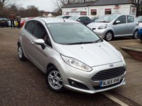 USED 2015 65 FORD FIESTA 1.5 ZETEC ECONETIC TDCI 5d 94 BHP ONE Owner FULL Service History ZERO Rate Road Tax