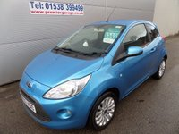 USED 2012 62 FORD KA 1.2 ZETEC 3d 69 BHP LOW MILEAGE, START STOP , AIR CON