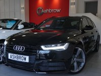 USED 2015 65 AUDI A6 AVANT 2.0 TDI ULTRA S LINE BLACK EDITION 5d AUTO 190 S/S 1 OWNER FROM NEW, UPGRADE HEATED FRONT SEATS, UPGRADE ELECTRIC HEATED POWER FOLDING DOOR MIRRORS, 20 INCH ROTOR ALLOYS, BI XENONS W/ LED DRL, LED TAIL LIGHTS, BLUETOOTH W/ AUDIO STREAMING, NAV, DAB, FRONT + REAR PARKING SENSORS W/ DISPLAY, PIANO BLACK INTERIOR FASCIAS, PRIVACY GLASS, 4 ZONE ELECTRIC CLIMATE A/C, BOSE, CRUISE, TYRE PRESSURE MONITORING SYSTEM, LEATHER 3 SPOKE SPORTS MULTI FUNCTION STEERING WHEEL, AUDI DRIVE SELECT, AUTO HOLD, AUTO DIMMING REAR VIEW, AUTO LIGHTS + WIPERS, VAT Q