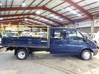 2011 FORD TRANSIT 2.4 T350 DRW LWB DOUBLE CAB 115 BHP DROPSIDE/PICK UP £6995.00