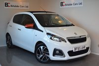 USED 2015 65 PEUGEOT 108 1.2 PURETECH ROLAND GARROS TOP 5d 82 BHP Immaculate - One Private Owner - Full Peugeot Service History - Fully Retractable Roof - Bluetooth - DAB Radio - Must Be Seen