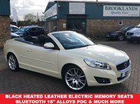 USED 2010 60 VOLVO C70 2.0 D4 SE LUX 2d 175 BHP Vanilla Cream Pearl Full Black Leather Heated Seats Power Fold Mirrors with Puddle Lights