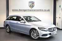 USED 2015 64 MERCEDES-BENZ C CLASS 2.1 C250 BLUETEC SPORT 5DR AUTO 204 BHP + FULL BLACK LEATHER INTERIOR + FULL SERVICE HISTORY +  SATELLITE NAVIGATION + HEATED SPORT SEATS + REVERSE CAMERA + BLUETOOTH + DAB RADIO + RAIN SENSORS + PARKING SENSORS + 18 INCH ALLOY WHEELS +