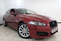 USED 2014 14 JAGUAR XF 2.2 D R-SPORT 4DR AUTOMATIC 200 BHP FULL SERVICE HISTORY + HEATED HALF LEATHER SEATS + SAT NAVIGATION + REVERSE CAMERA + BLUETOOTH + CRUISE CONTROL + MULTI FUNCTION WHEEL + 18 INCH ALLOY WHEELS