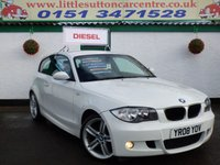 USED 2008 08 BMW 1 SERIES 2.0 118D M SPORT 3d 141 BHP DIESEL, M SPORT, FULL HISTORY, APPLY FOR FINANCE TODAY.