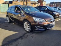 USED 2014 64 VAUXHALL ASTRA 1.6 ELITE 5d 113 BHP ESTATE WITH LEATHER , HEATED SEATS, 17INCH ALLOY WHEELS, AND CLIMATE CONTROL!..EXCELLENT FUEL ECONOMY!..LOW CO2 EMISSIONS(149G/KM)..LOW ROAD TAX...FULL VAUXHALL HISTORY..ONLY 9057 MILES FROM NEW!!
