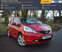 USED 2009 59 HONDA JAZZ 1.3 I-VTEC EX 5d 98 BHP 53,227 MILES, FULL SERVICE HISTORY, REAR PARKING SENSORS, CRUISE CONTROL, PANORAMIC ROOF, AIR CON, FRONT & REAR MUD FLAPS + MUCH MORE!