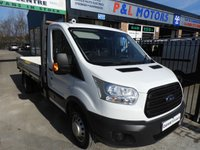 2015 FORD TRANSIT 2.2 350 DROPSIDE TWIN WHEEL 125 BHP EXLWB L4 CHOICE £14295.00