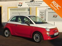 USED 2012 61 FIAT 500 1.2 POP 3d 69 BHP Bicolour body and Interior ,Low Insurnace ,Low Tax