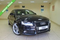 USED 2011 61 AUDI A5 2.0 SPORTBACK TDI S LINE 5d AUTO 141 BHP COUPE BLACK LEATHER, FRONT AND REAR PARKING SENSORS, STUNNING AUTOMATIC COUPE, LOW MILEAGE, FULL AUDI SERVICE HISTORY,