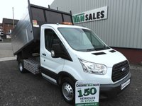 2016 FORD TRANSIT 2.2 350 L3  DRW 125 BHP TWIN WHEEL ARBORIST HI SIDE TIPPER CHOICE £19495.00