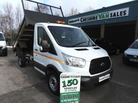 2015 FORD TRANSIT 2.2 350 TIPPER 125 BHP NEW SHAPE CHPOICE IN STOCK £12995.00