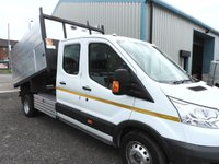 2015 FORD TRANSIT 2.2 350 L3 CREW CAB TIPPER TWIN REAR WHEELS 124 BHP £17595.00